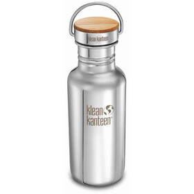 Klean Kanteen Reflect Bidón Tapa Bambú 532ml, mirrored stainless